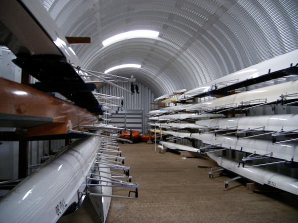 Inside the TURC boatshed